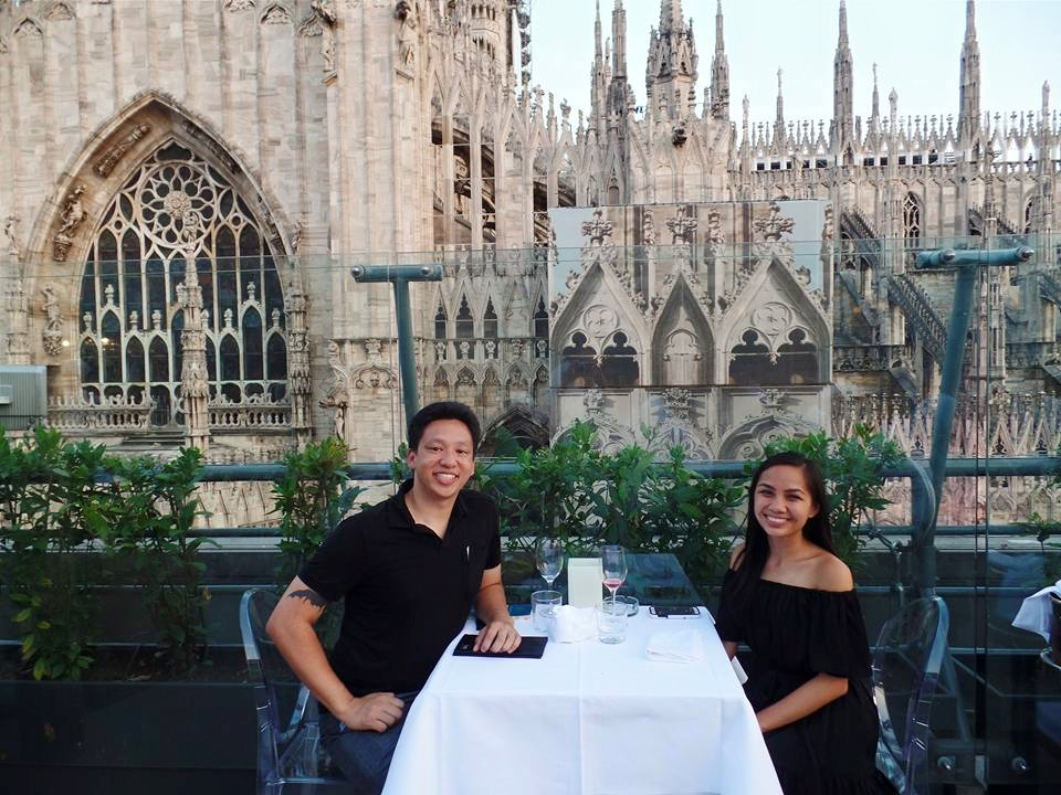 View of the Duomo from dinner at La Rinascente