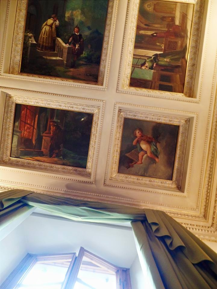 Frescoed ceilings of our hotel