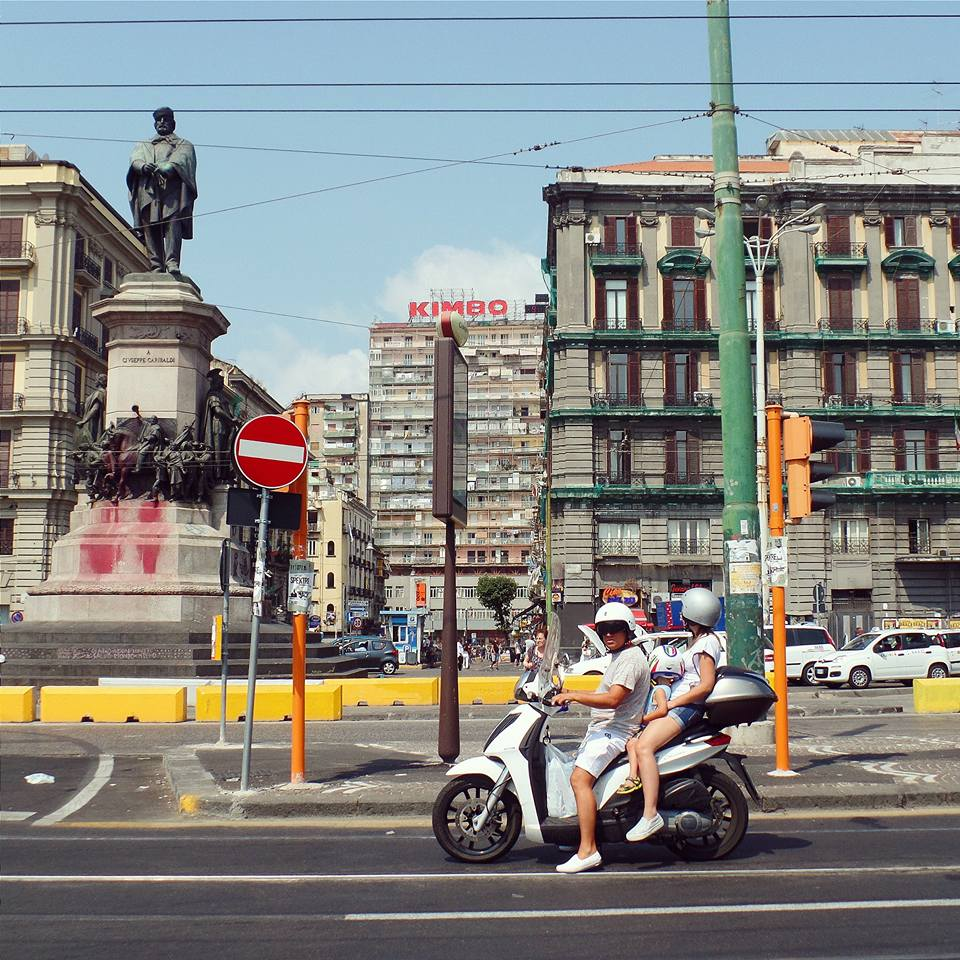If you look closely, there are three people on that little moped. Typical transportation in Southern Italy.