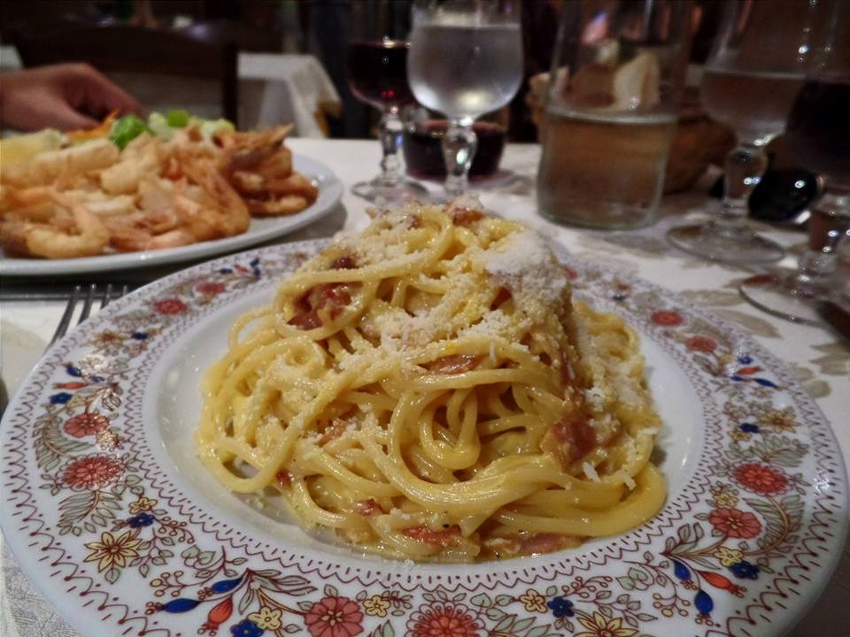 Had two of Rome's specialties (carbonara and fritti) on our first night