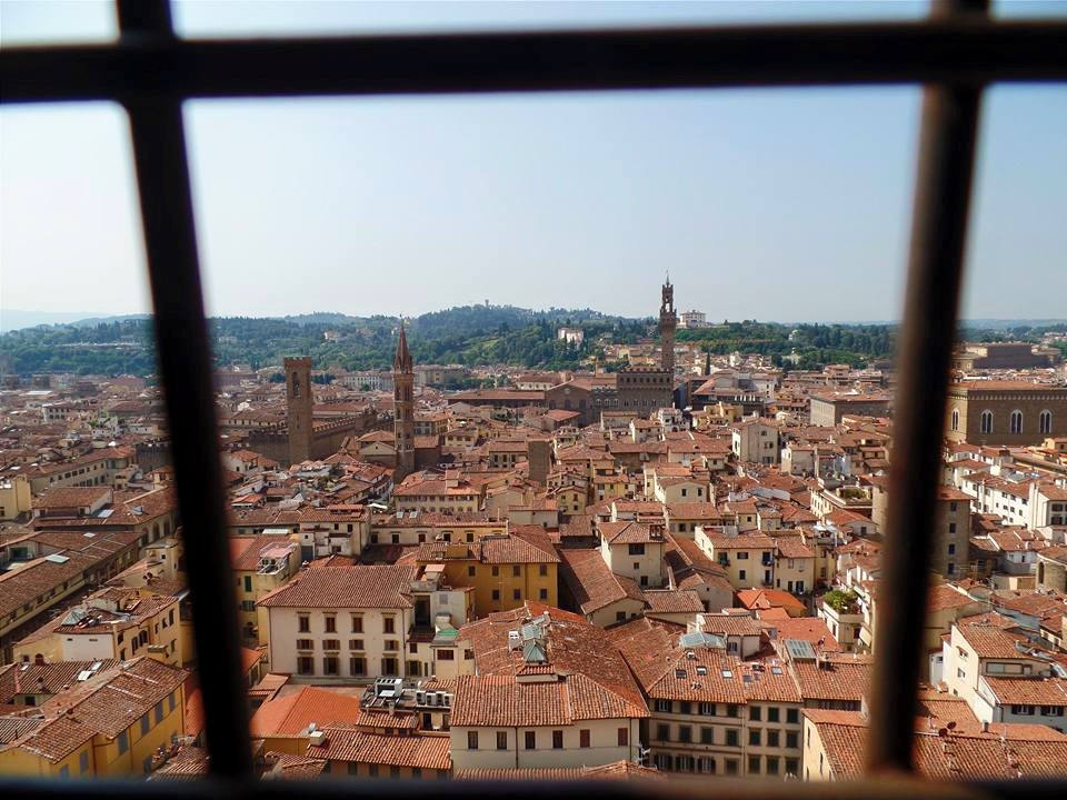 View from a stairwell in the Duomo