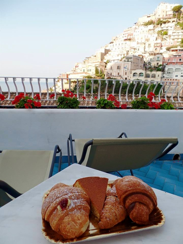 Pastries on our balcony for our last breakfast in Positano