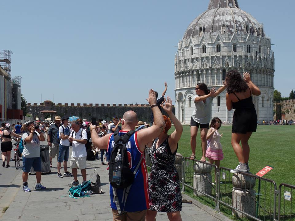 Silly tourists