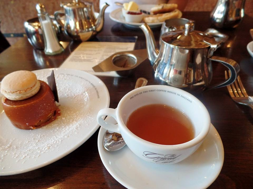 Our first afternoon tea in England